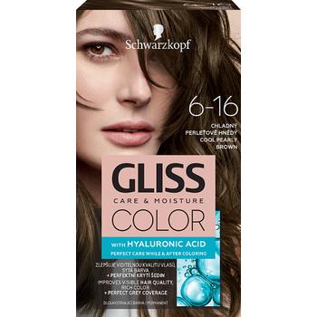 Schwarzkopf Gliss Color tartós hajfesték 6-16 Hűvös gyöngybarna