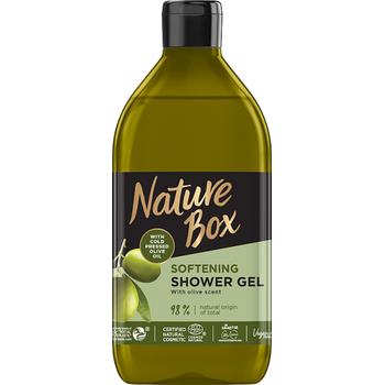 Nature Box tusfürdő olíva olajjal a sima bőrért 385 ml