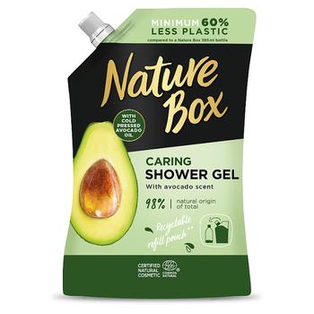 Nature Box tusfürdő utántöltő Avokádó olajjal a táplált bőrért