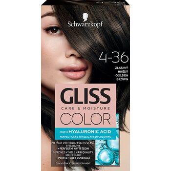 Schwarzkopf Gliss Color tartós hajfesték 4-36 Aranybarna
