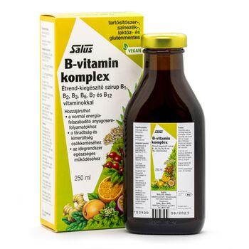 Salus B-vitamin Komplex  étrendkiegészítő 250ml + ajándék 1 mini Kindervital, 1 mini Kräuterblut