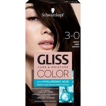 Schwarzkopf Gliss Color tartós hajfesték 3-0 Mélybarna