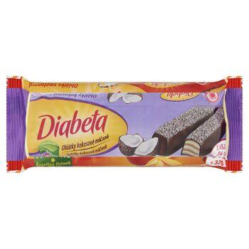 Diabeta 34g - nápolyi kókuszos töltelékkel (44%), fruktózzal, kakaóba mártva, kókuszreszelékkel megszórva (diabetikus)
