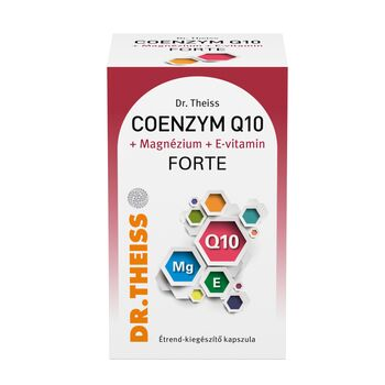 Dr. Theiss Coenzym Q10 + Magnézium + E-vitamin FORTE étrend-kiegészítő 60 db