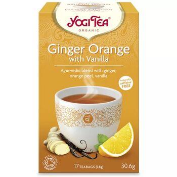 Yogi bio tea narancsos gyömbér vaníliával 17x1,8g 31 g