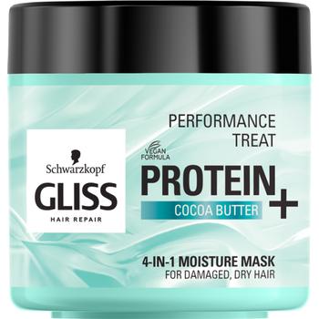Gliss hajpakolás 4 az 1-ben protein kakaóvajjal száraz hajra 400 ml