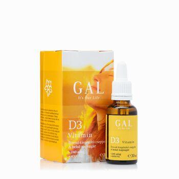 GAL D3-vitamin 4000 NE 240 adag 30 ml  (GAL)