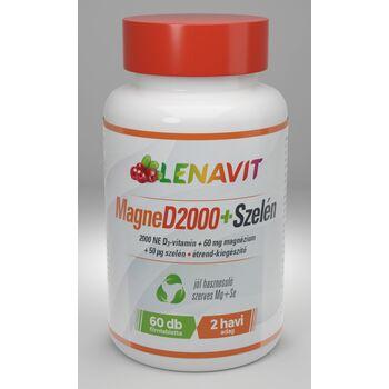 Lenavit MagneD2000+Szelén, 2000 NE D3-vitamin 60db