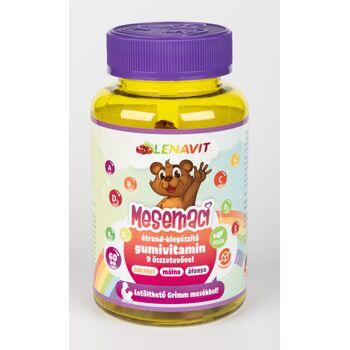 LenaVit Mesemaci gumivitamin, 9 vitaminnal, narancs-málna-áfonya ízben, 60 db Letölthető Grimm mesékkel