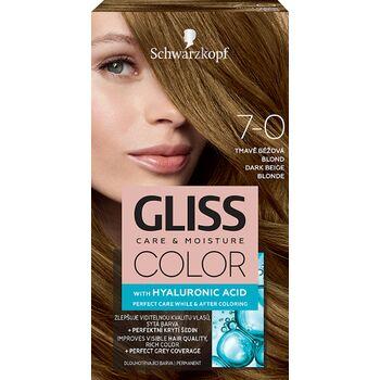 Schwarzkopf Gliss Color tartós hajfesték 7-0 Sötét bézsszőke