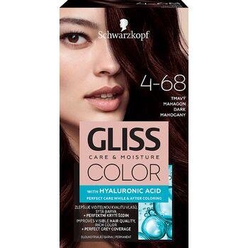 Schwarzkopf Gliss Color tartós hajfesték 4-68 Sötét mahagóni