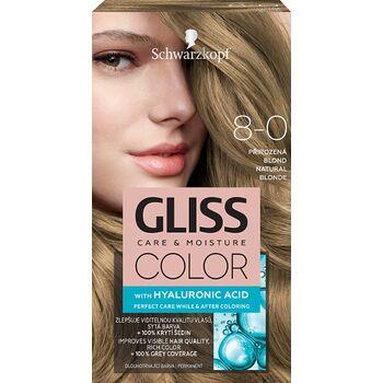 Schwarzkopf Gliss Color tartós hajfesték 8-0 Természetes szőke