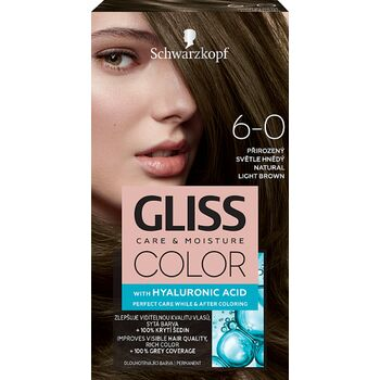 Schwarzkopf Gliss Color tartós hajfesték 6-0 Természetes világosbarna