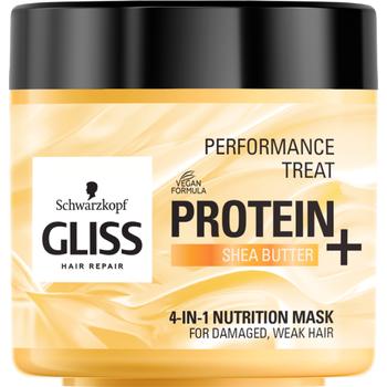 Gliss hajpakolás 4 az 1-ben protein shea vajjal sérült hajra 400 ml