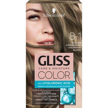 Schwarzkopf Gliss Color tartós hajfesték 8-1 Hűvös középszőke