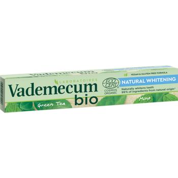 Vademecum Bio fogkrém Natural Whitening bio zöld teával és mentával 75 ml