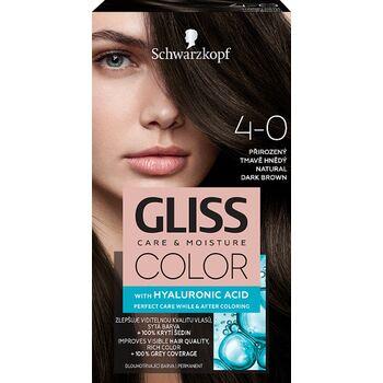 Schwarzkopf Gliss Color tartós hajfesték 4-0 Természetes sötétbarna