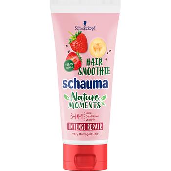 Schauma Nature Moments Haj Smoothie Regeneráló hajpakolás eperrel, bannánal & chia maggal 200 ml