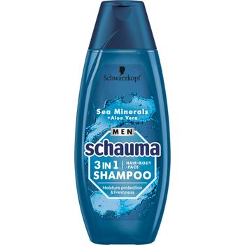 Schauma férfi sampon hidratáló tengeri ásványokkal & aloe verával 400 ml